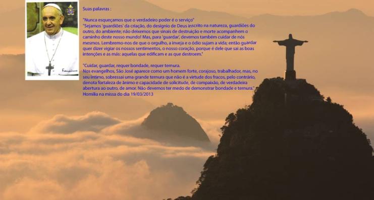 FOTO DO CRISTO COM O PAPA FRANCISCO E SUAS PALAVRAS copy